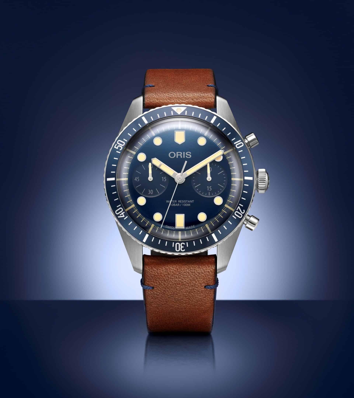 Oris Divers Sixty-Five Bucherer Blue Edition ChronographOris Divers Sixty-Five Bucherer Blue Edition ist so blau wie retro!