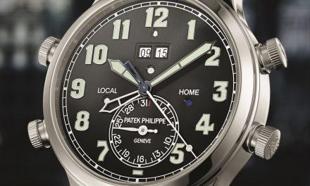 Der Patek Philippe Alarm Travel Timer zeigt was es geschlagen hat.