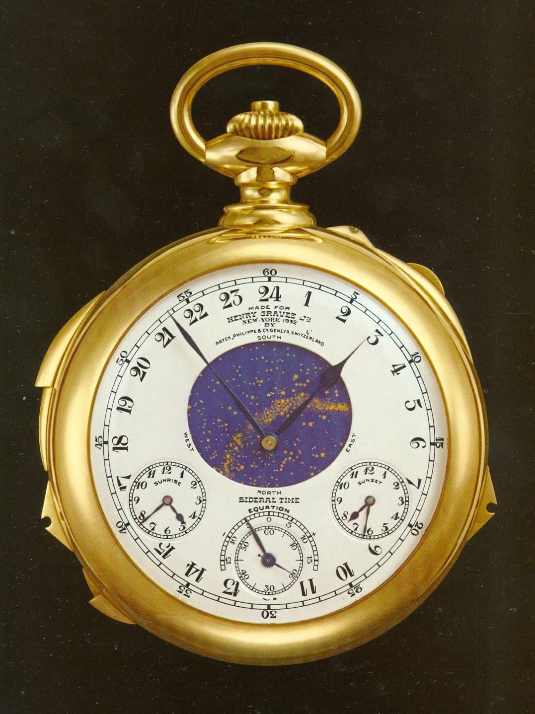 Die Patek Philippe Taschenuhr für Henry Graves Jun. zeigt den Sternenhimmel über New York