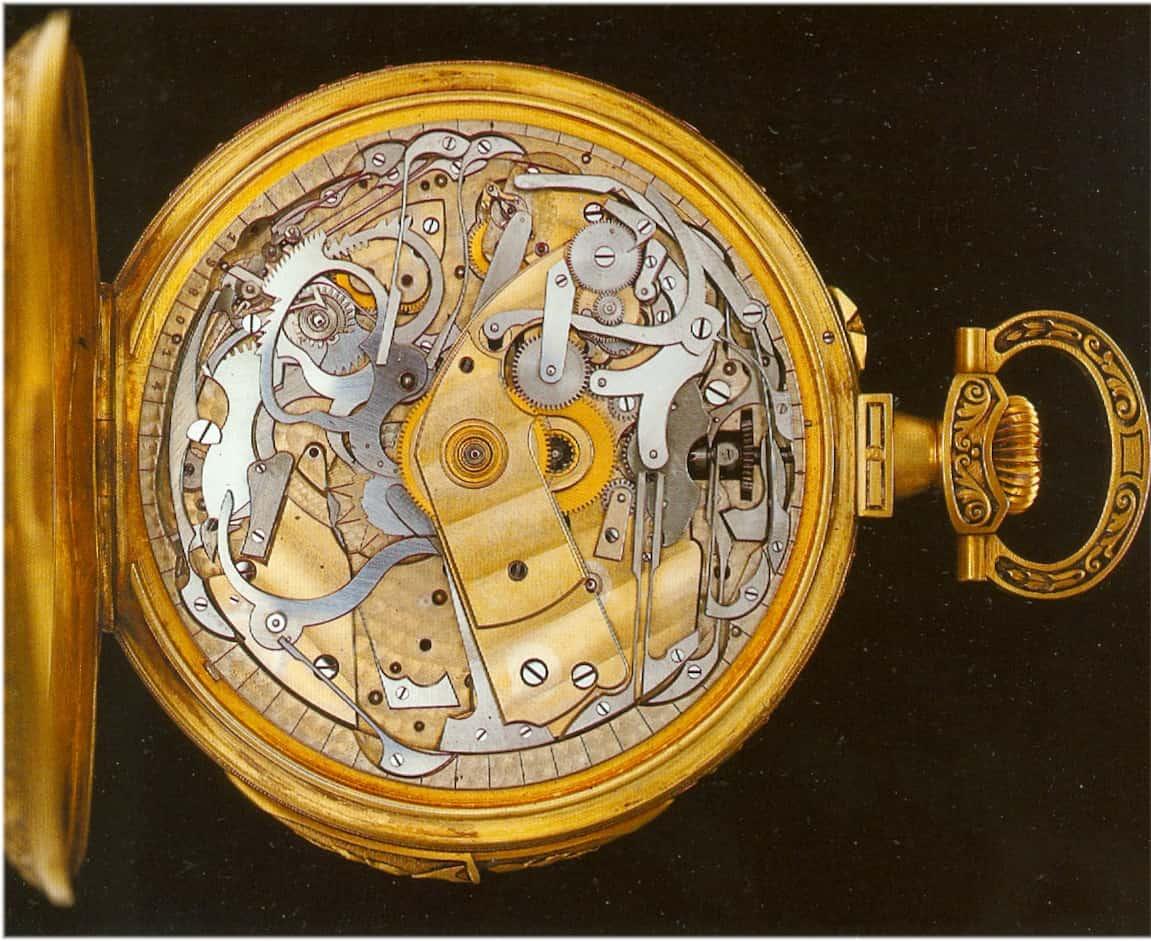 Der komplizierte Aufbau des klassischen Uhrentechnik-Teils der Patek Philippe Taschenuhr