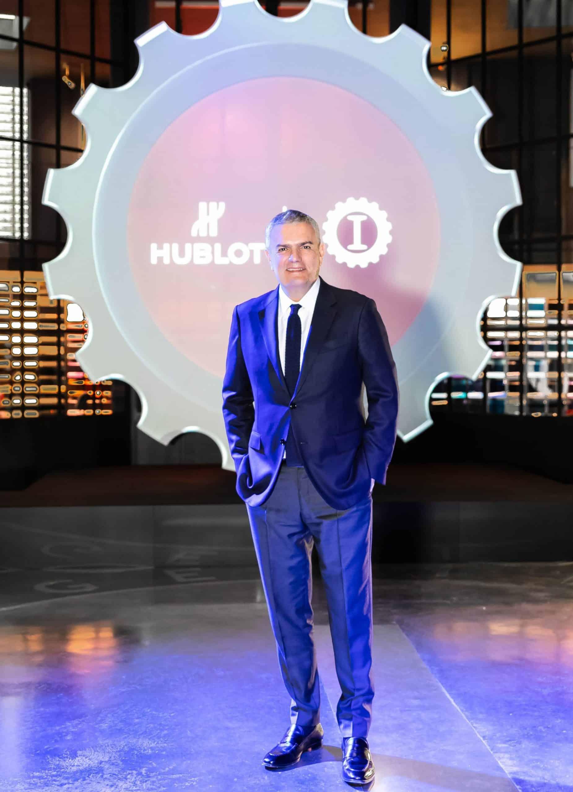 Hublot CEO Ricardo Guadalupe in Mailand bei Garage Italia und der Präsentation der neuen Classic Fusion Garage Italia