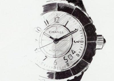 Gezeichnet, statt im CAD Designstudio entworfen: Die J12 von Chanel