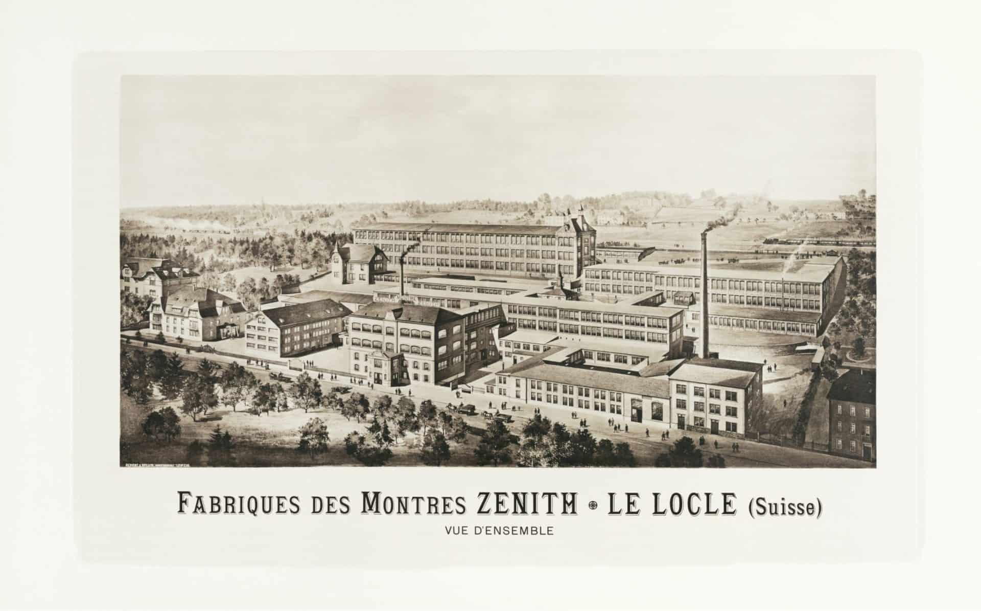 Die historische Werkanlage der Uhrenmarke Zenith