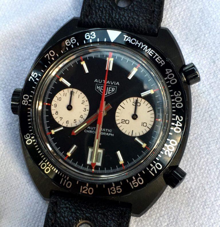 Der historische alte Heuer Autavia Chronograph mit dem Kaliber 12