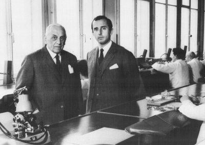 Charles-Eduouard Heuer und sein Sohn Jack W. Heuer