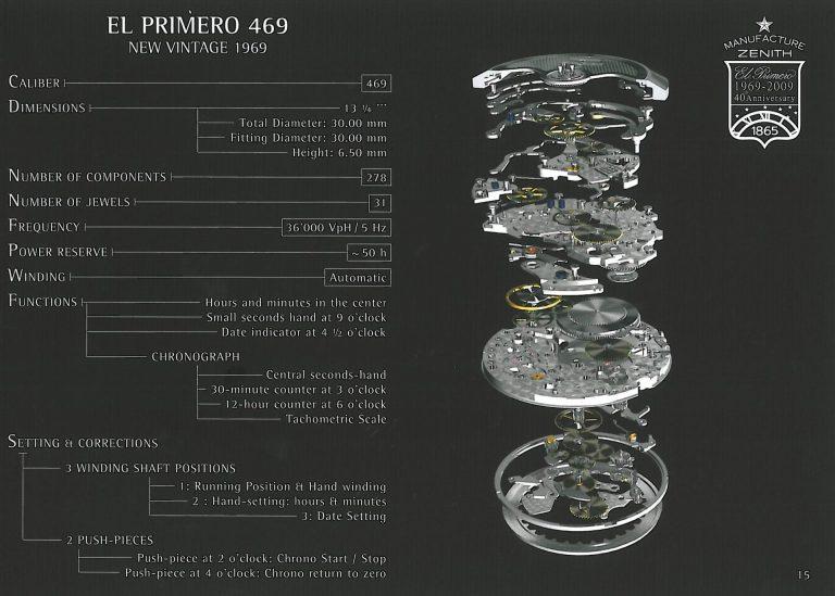 Das El Primero Kaliber 469 im Aufbau und erklärt