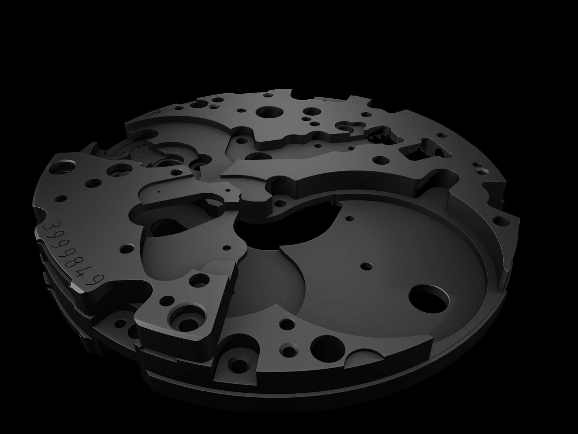 Keramik-Platine einer Breitling Superocean Heritage Chronoworks Breitling Caliber 01