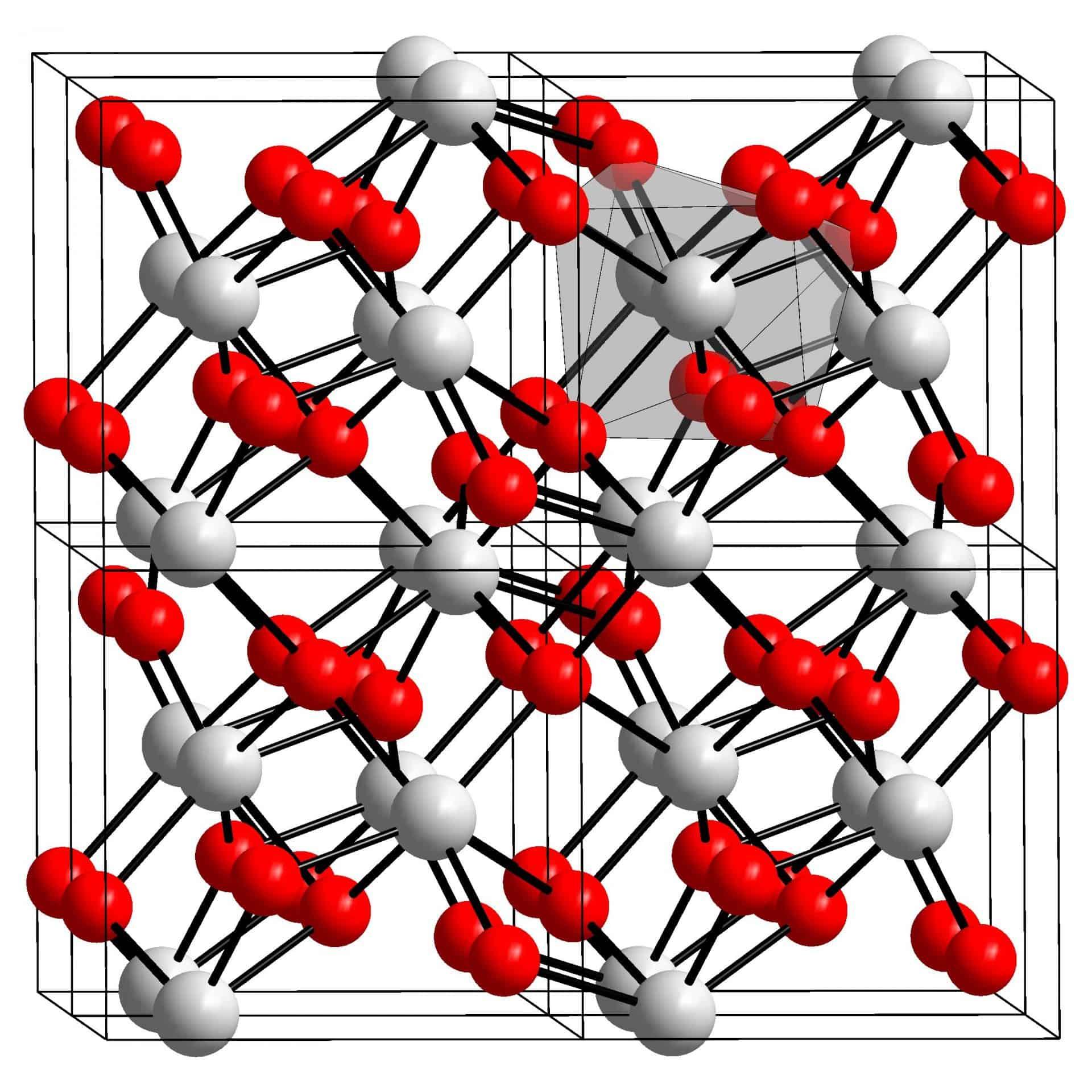 Kristalline Struktur von Zirkcorniumoxid