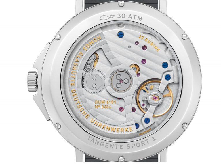 Neu ist auch das Uhrwerk der Nomos Tangente Sport Uhrenlinie. Es ist das Automatik-Kaliber DUW 6101.