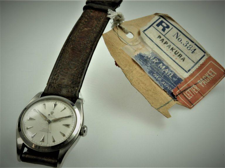 Edmund Hillary Rolex Museum Beyer mit Versandpapieren