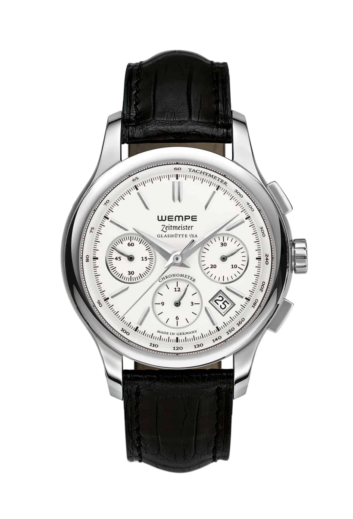 Mit einem Stahl-Chronometer Modell Erster Zeitmeister begann im Jahr 2006 bei Wempe wieder die Herstellung von eigenen Uhren