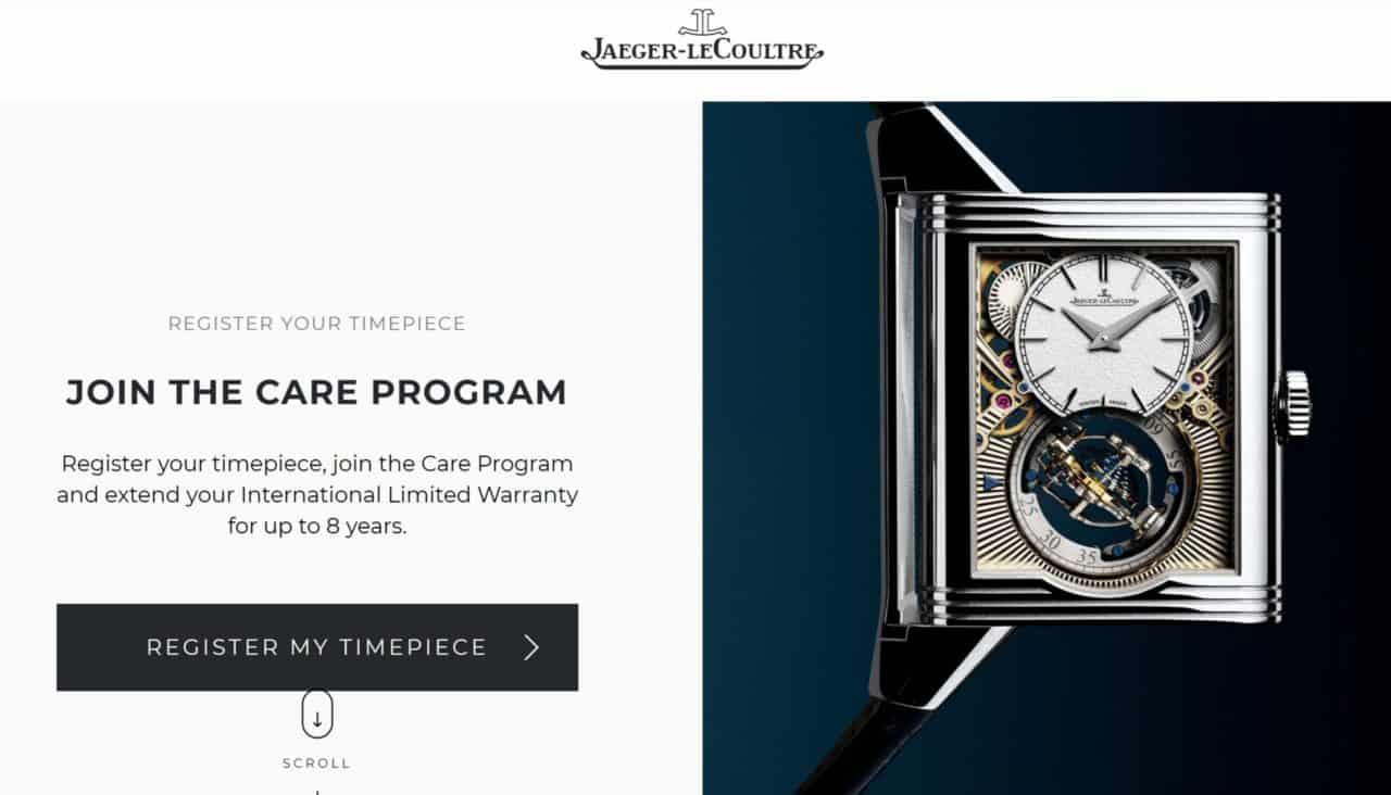 Bis zu 8 Jahre Garantie Gewährleistung bei Jaeger-LeCoultre, Rolex, Omega oder Breitling