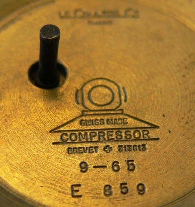Jaeger LeCoultre Memovox Polaris 1968 Kompressorgehäuse innen
