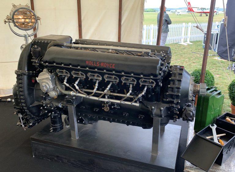 Rolls Royce Merlin Triebwerk des Silver Spitfire
