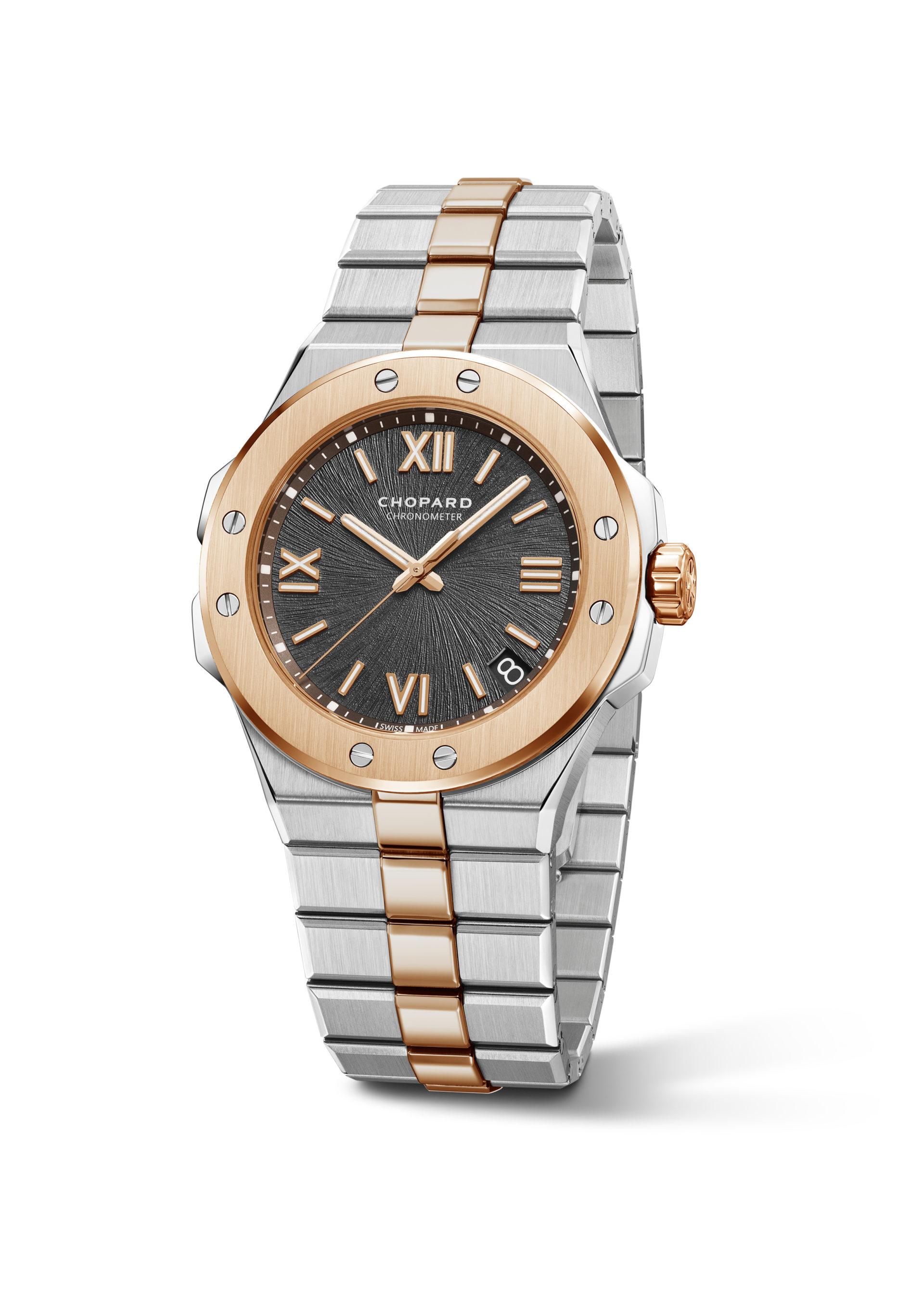 Für Freunde von Bi-Metall Uhren gibt es die Alpine Eagle auch in Stahl und Gold