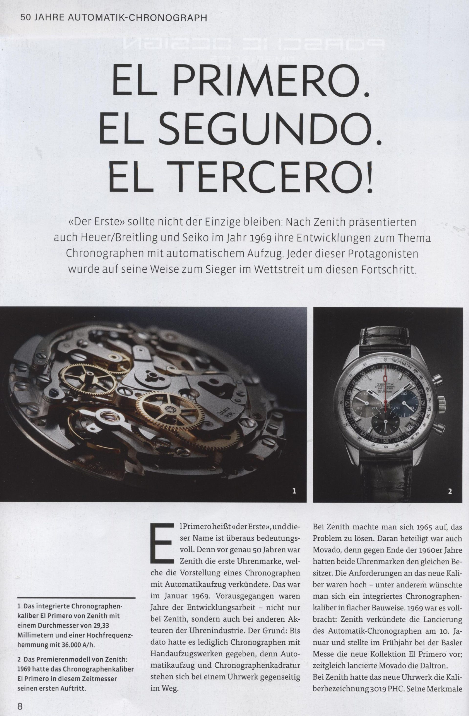 Armbanduhren Katalog Heel 2019 El Primero