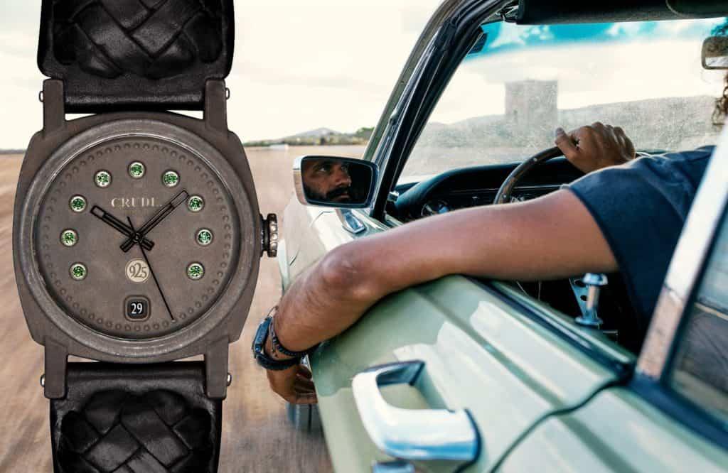 Crude Gypsetter Uhr mit Fahrzeug