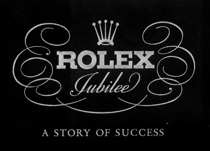 Das Jubiläums-Anzeigenmotiv von Rolex aus dem Jahre 1945 wies den Weg: Rolex - a story of success!