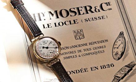 Vintage Moser Kalenderuhr und die Geschichte des Visionärs Henry Moser