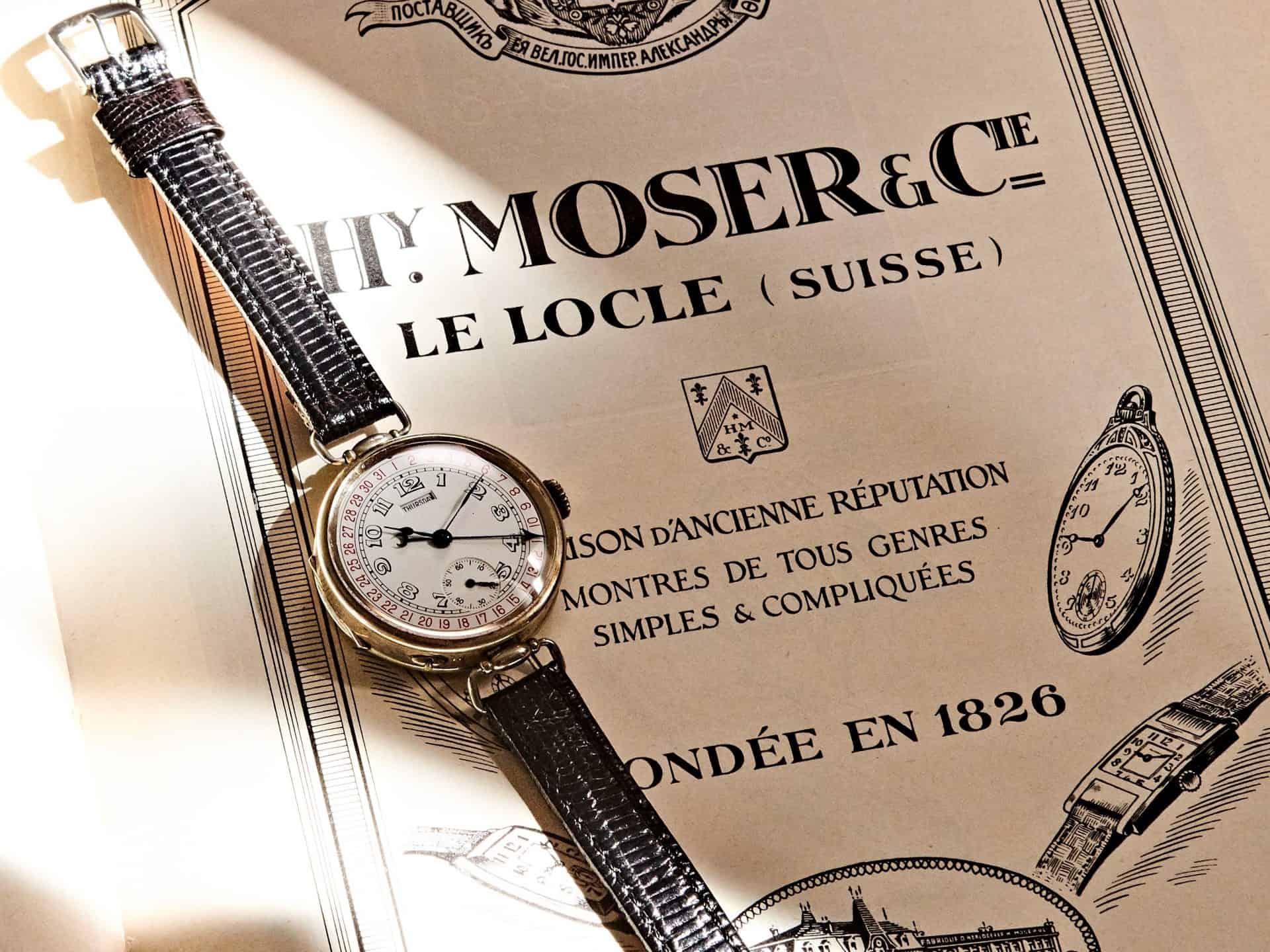 Moser Kalender Vintage Armbanduhr (c) Uhrenkosmos