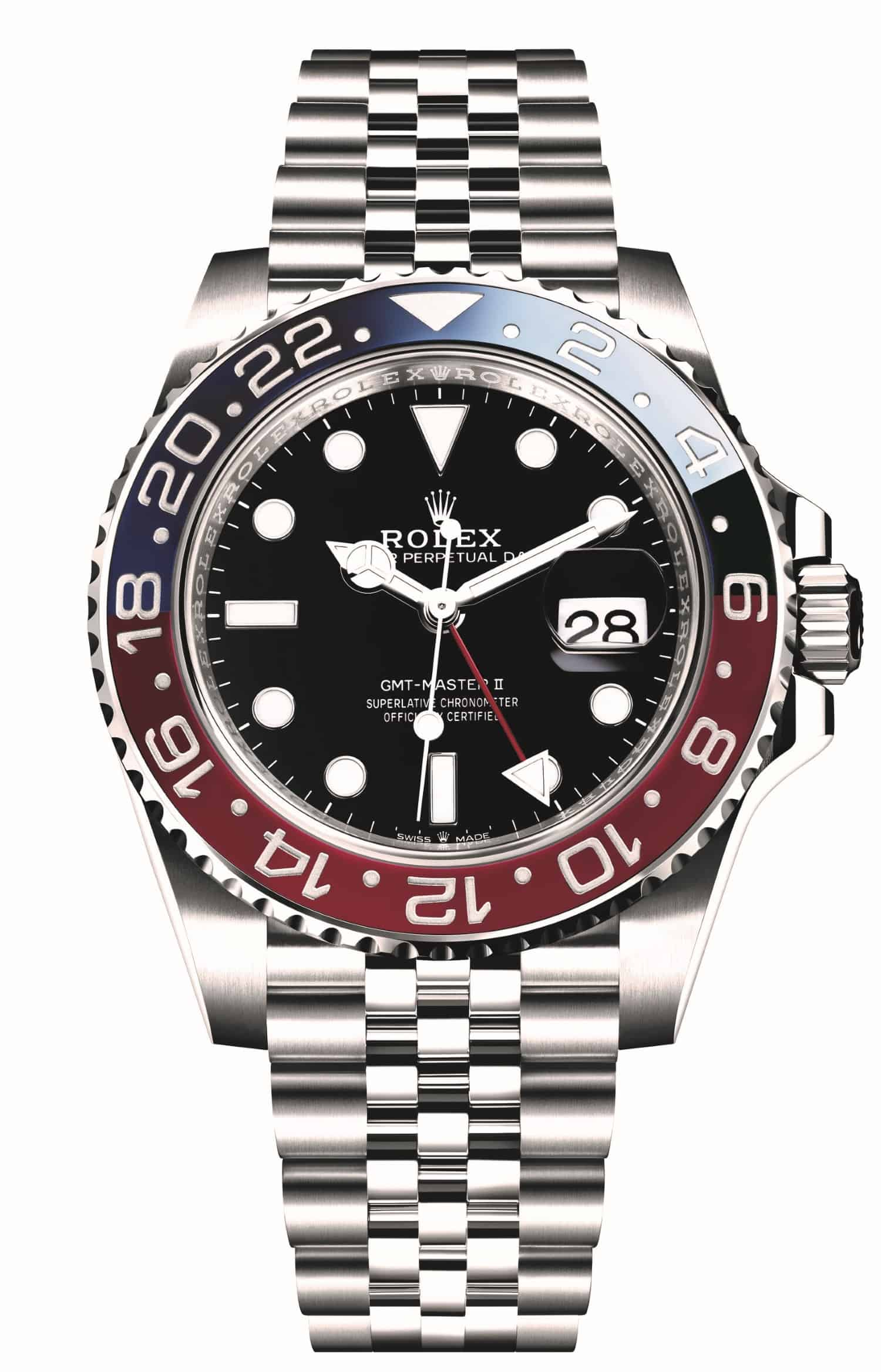 Das Objekt der Begierde und langer Wartezeiten: Die Rolex GMT Master II Pepsi mit dem neuen Armband.