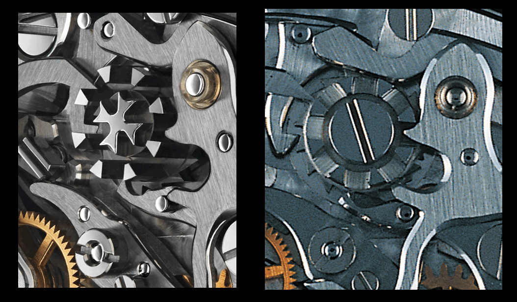 Vergleich Schaltrad Kaliber Vacheron Constantin 1142 und Lemania 2310