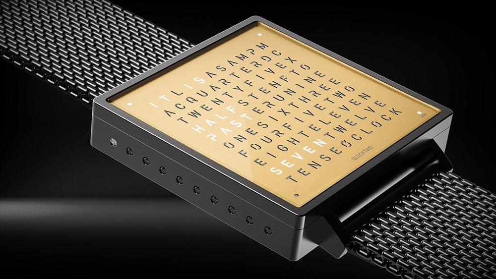 Das besondere Design der Wortuhr namens Qlocktwo