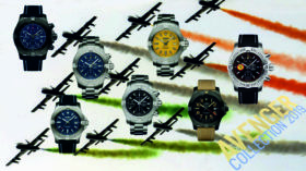 Die Breitling Avenger Breitseite mit Chronograph, Seawolf und GMT
