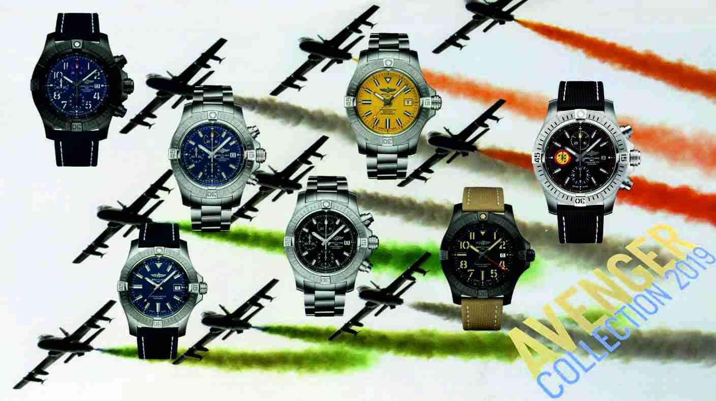 Breitling überarbeitet Avenger ModelleBreitling Avenger Seawolf, Breitling Super Avenger Chronograph 43 und Breitling Avenger GMT