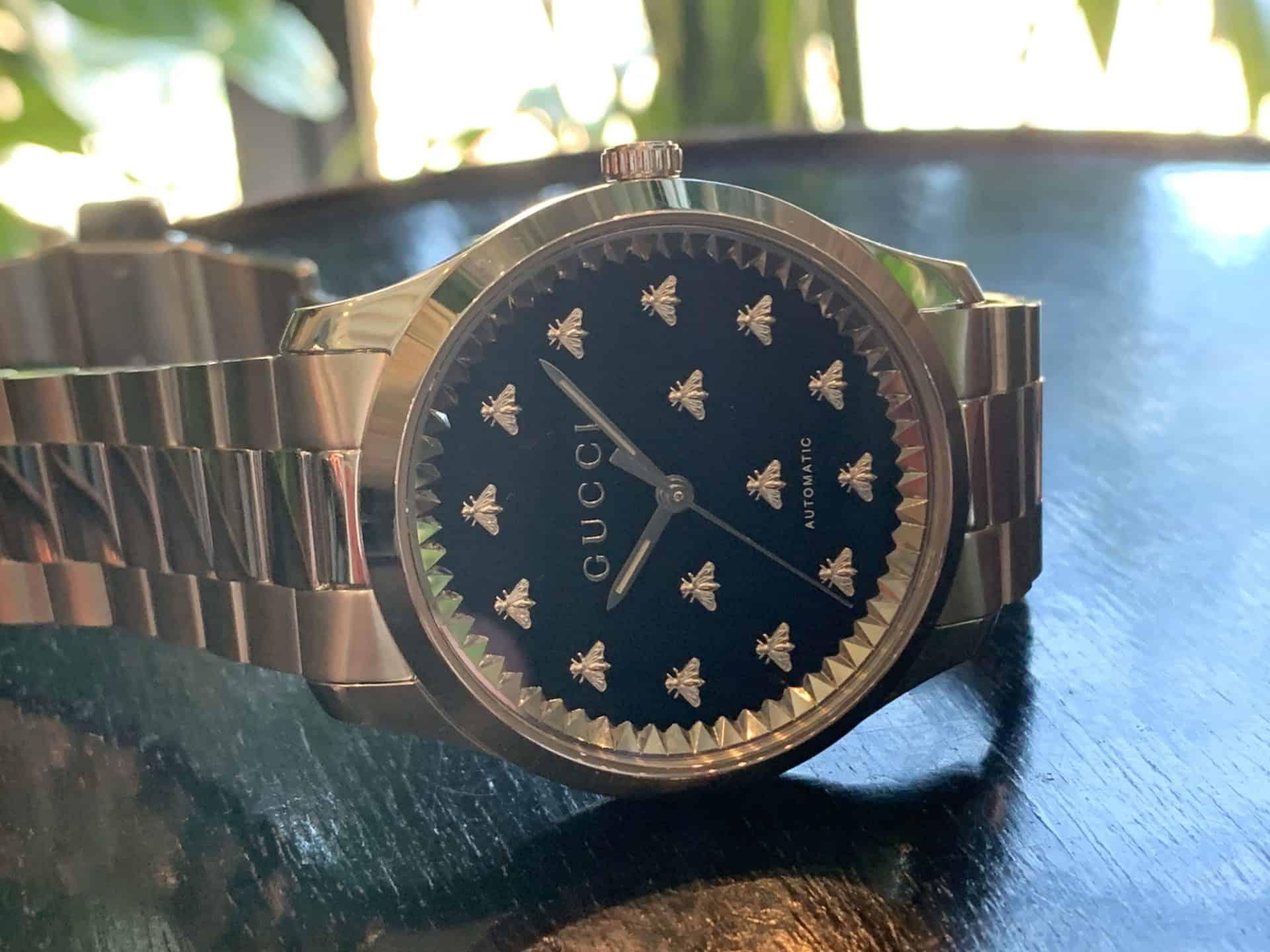 Gucci G Timeless Automatic Edelstahl Referenz YA126283 2 kl 1