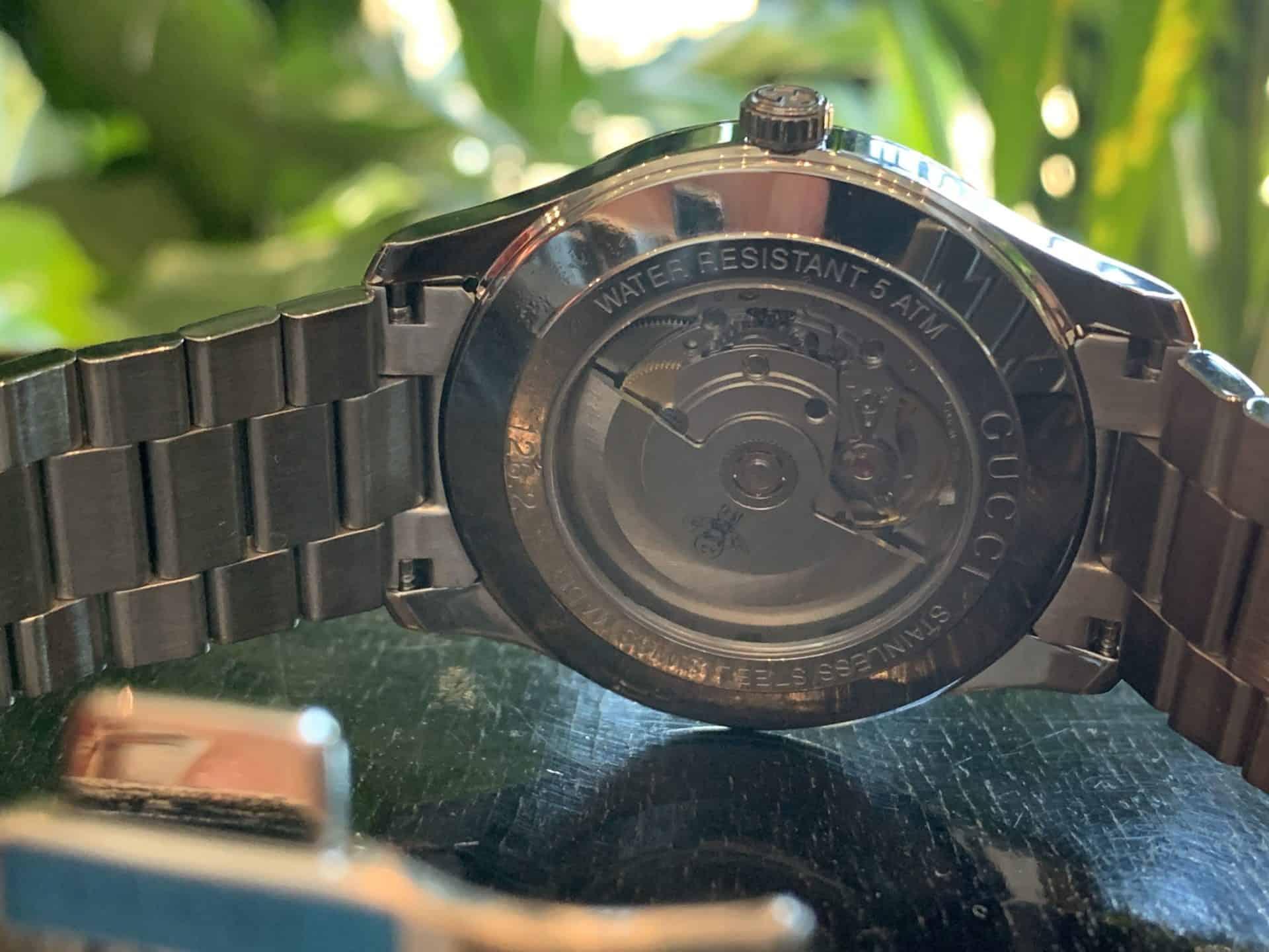 Gucci G Timeless Automatic Edelstahl Referenz YA126283 2b