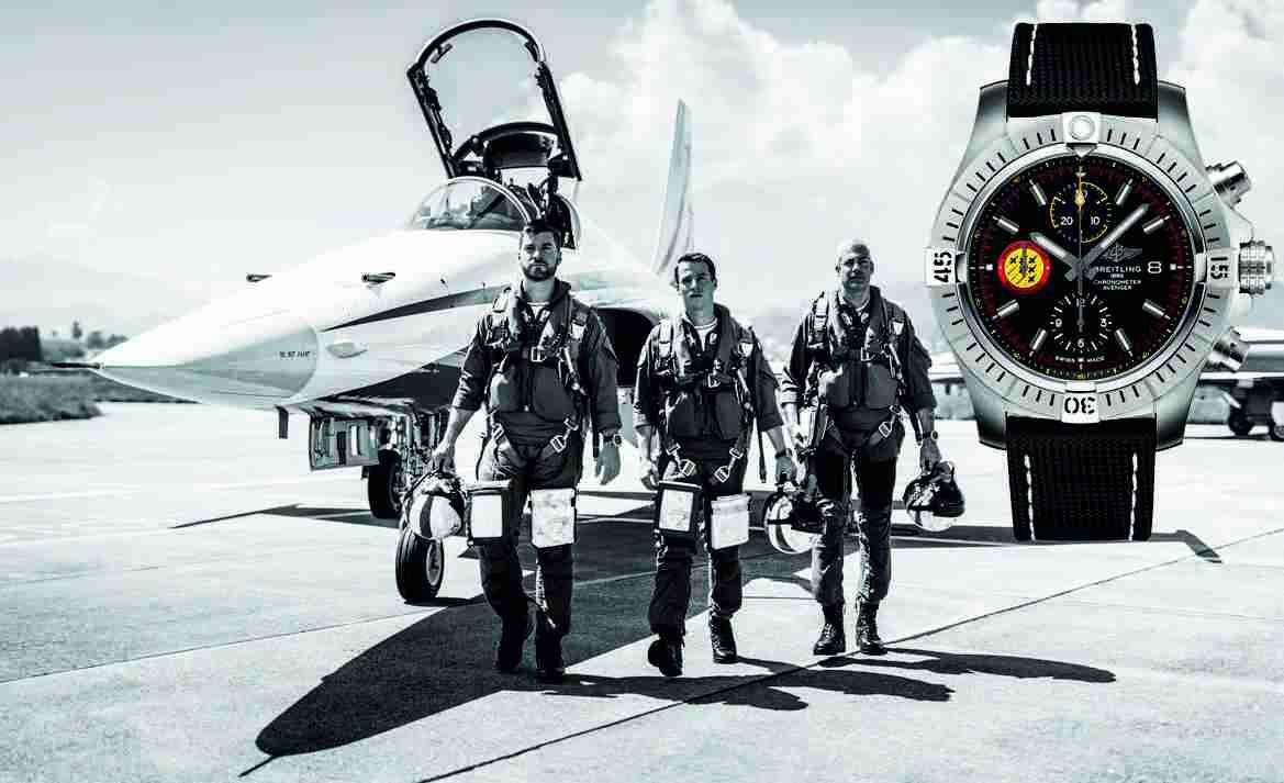 swiss air force team jet pilots captain lukas nannini captain claudius meier and major gunnar jansen left to right 01
