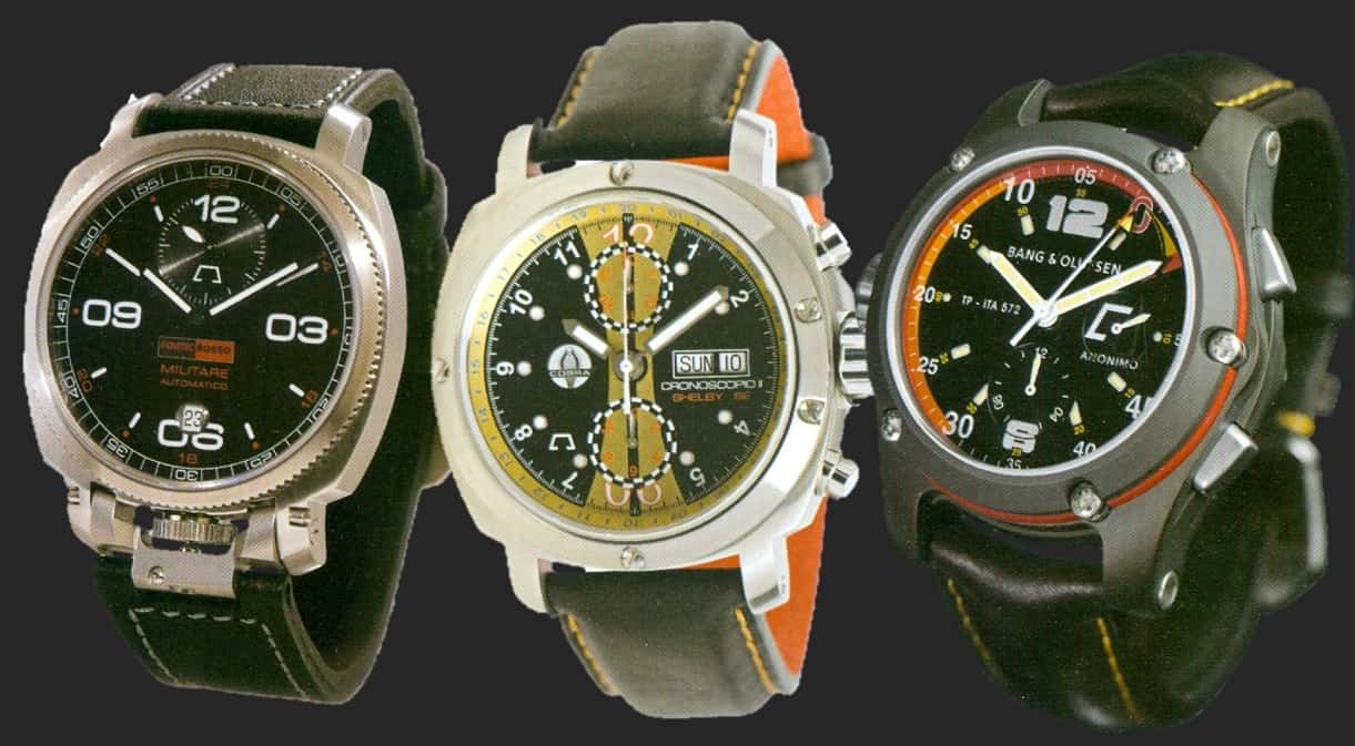 OM Militare Automatico, OM Chronoscopo Mark II Shelby, OM Chrono racing TP-ITA 572 Bang & Olufsen