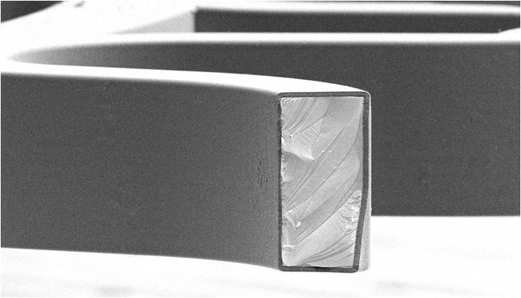 Ulysse Nardin: Schnitt durch ein DiamonSil-Bauteil