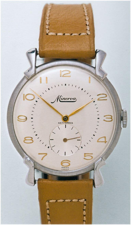Minerva Armbanduhr 1950er Jahre Kaliber 48 rund