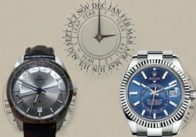 Korrekt von März bis Februar: Omega und Rolex mit Jahreskalender