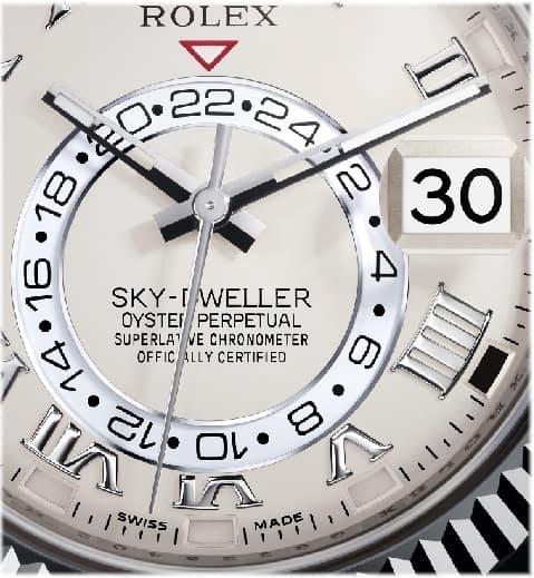 Rolex Sky Dweller 24 Stunden Anzeige 1
