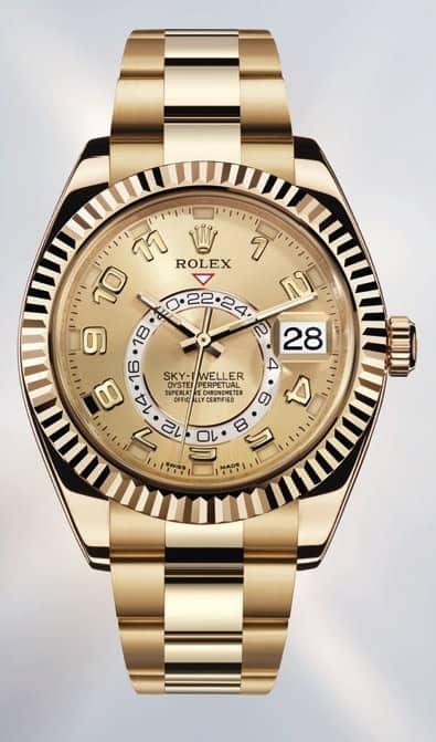 Rolex Sky Dweller Gelbgold Referenz 326938