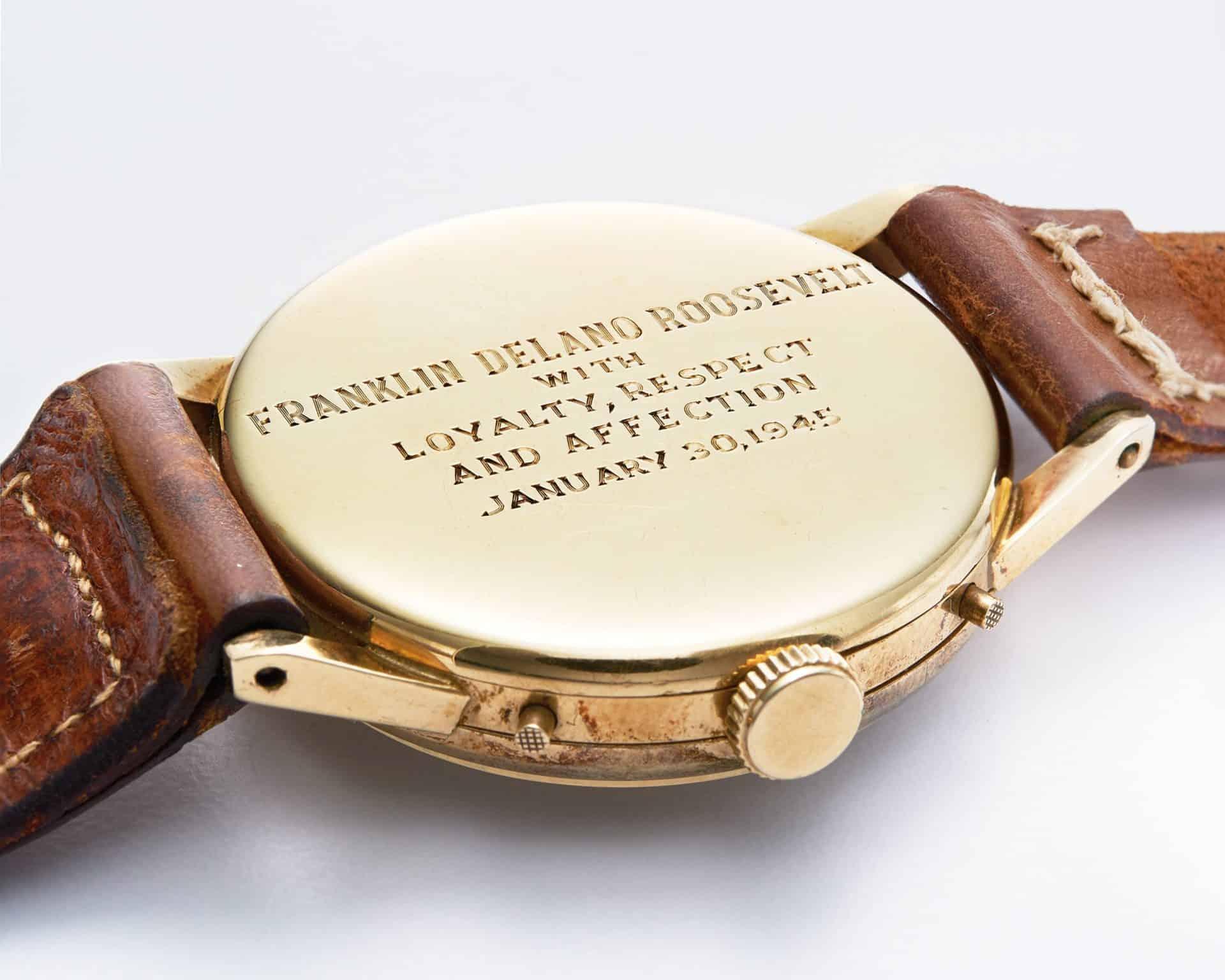 Tiffany Armbanduhr als Geschenk für US Präsident Franklin D. Roosevelt RS