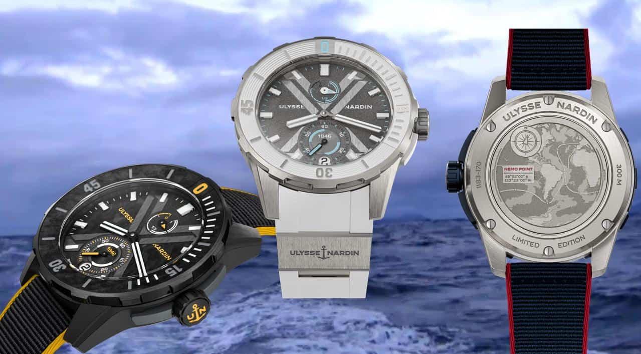 Die drei limitierten Sondermodelle von Ulysse Nardin Nemo Point, Antartica und Cape Horn