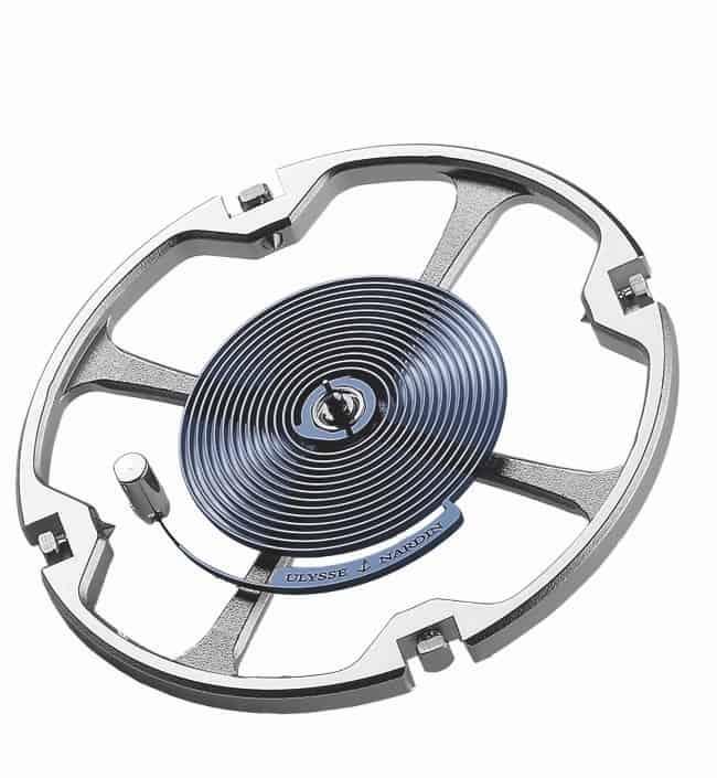 Ulysse Nardin Kaliber UN-118, Unruh mit variabler Trägheit und Silizium Unruhspirale