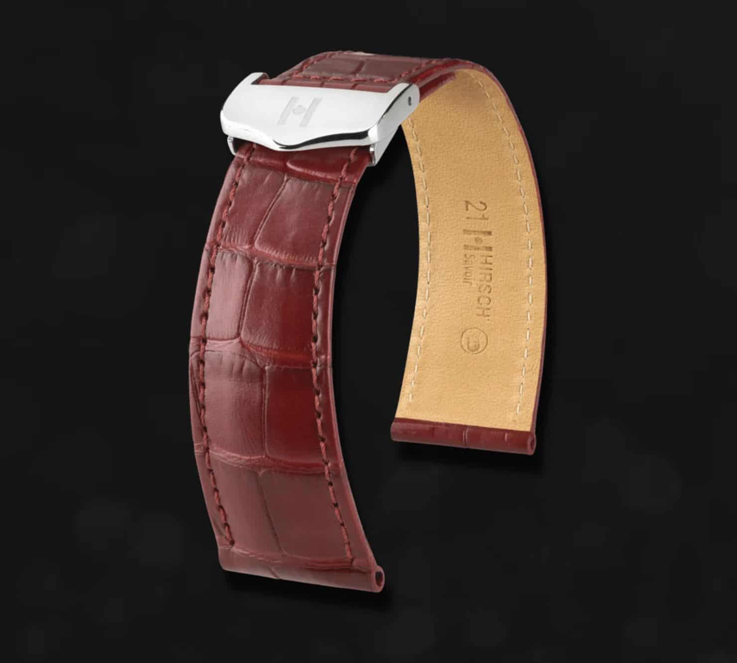 Das Hirsch-Alligator-Armband ist ein perfektes Geschenk und gibt hochwertigen Uhren den notwendigen Halt