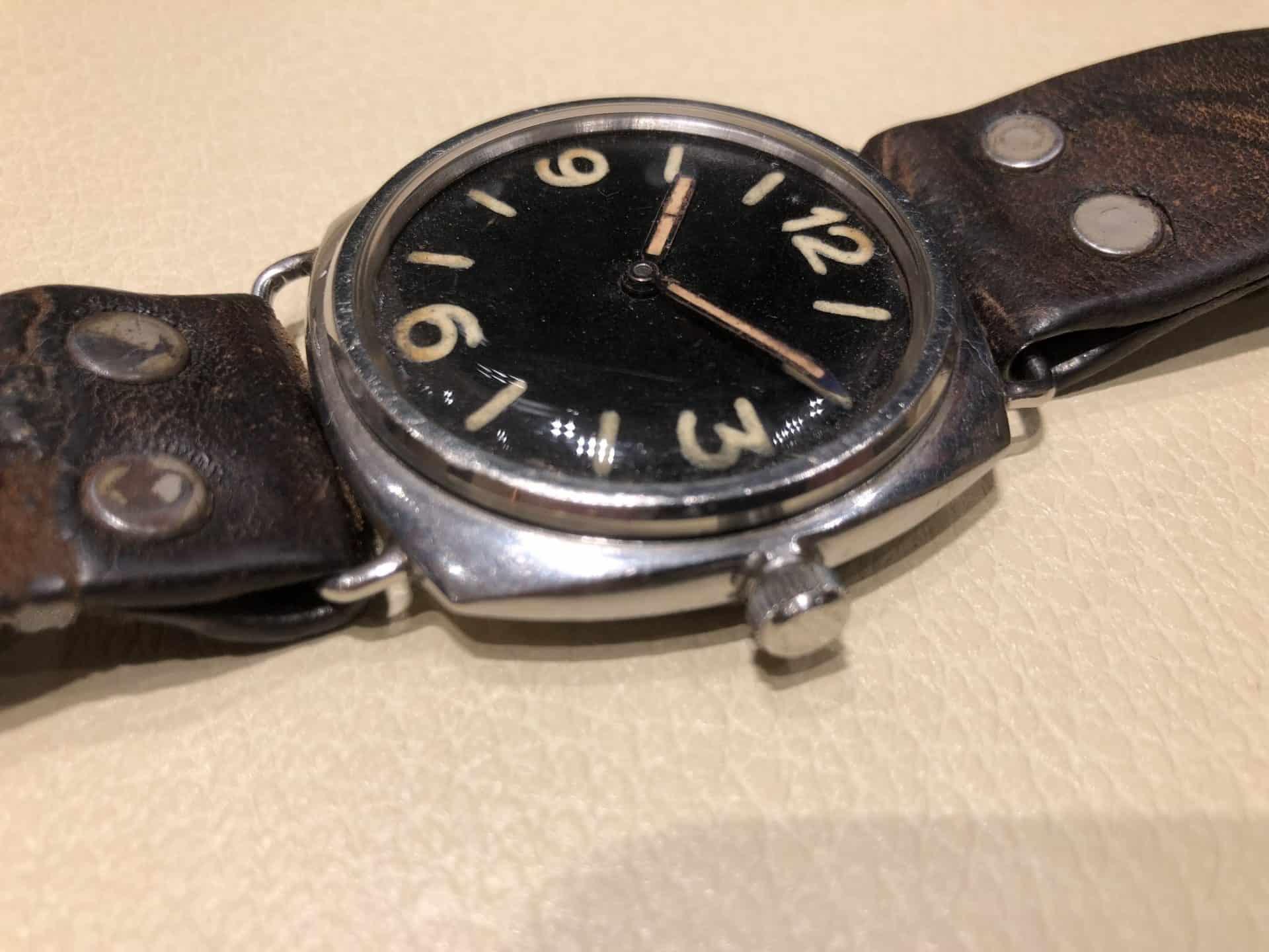 Eine alte Panerai Radiomir Uhr mit Rolex Cortebert-Kaliber aus den 30-er Jahren