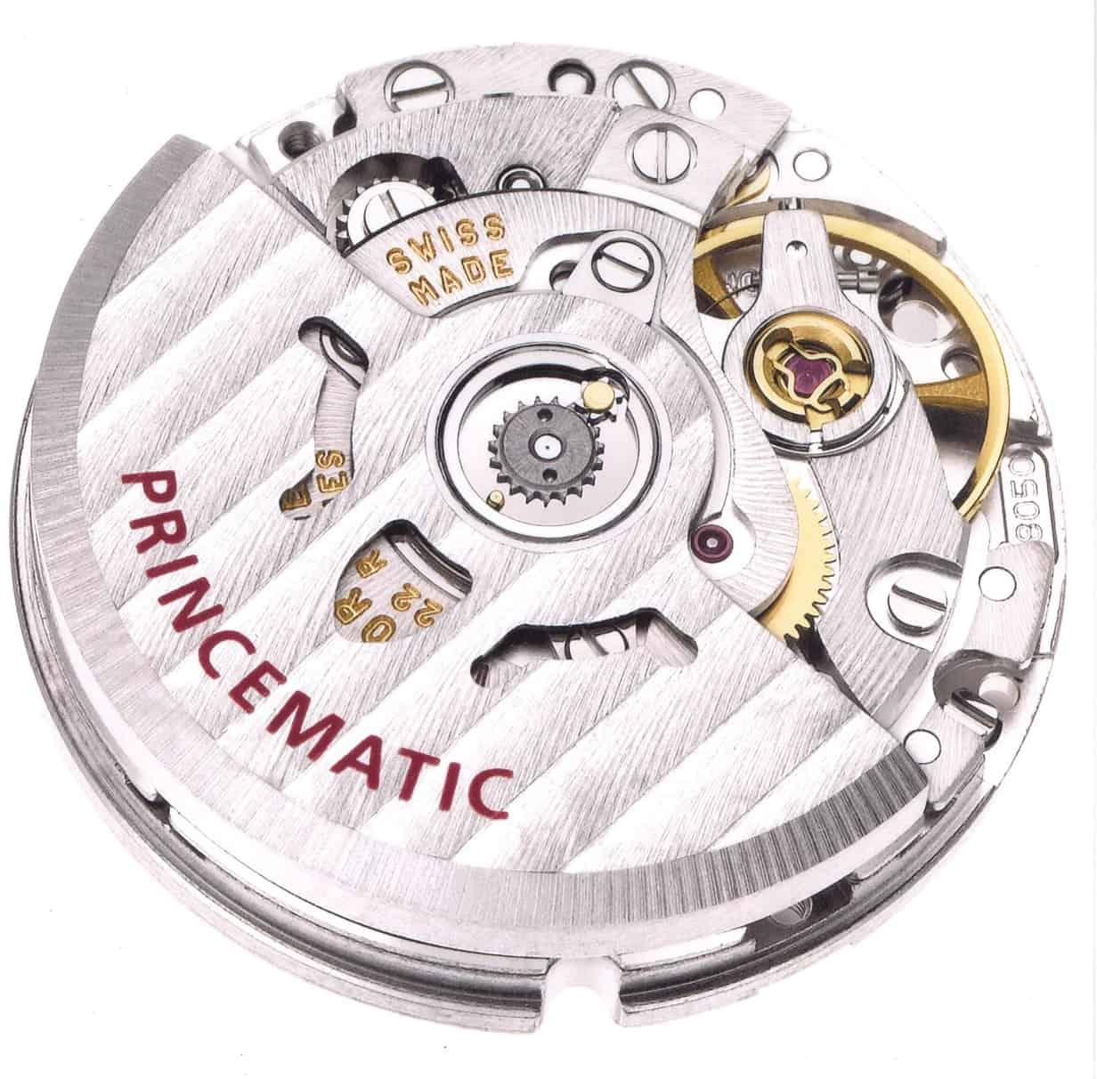 Das kleinere Kaliber T 8000 Princematic wurde insbesondere für Damenmodelle entwickelt