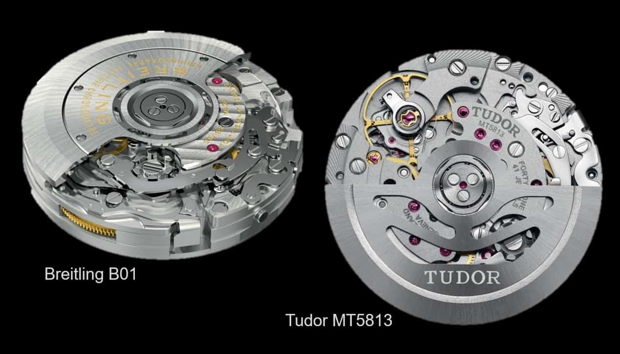 Die beiden miteinander verwandten Uhrwerke