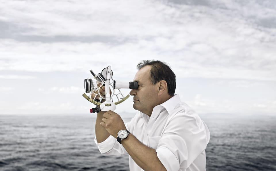 IWC Portugieser auf hoher See mit Sextant