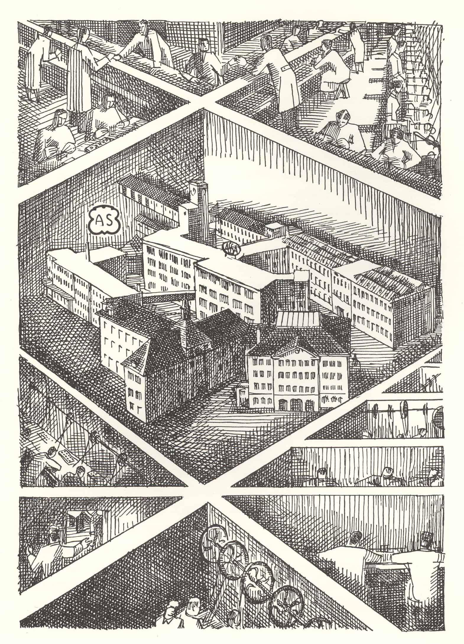 Die Fabrikgebäude der AS Adolf Schild Rohwerkein Grenchen