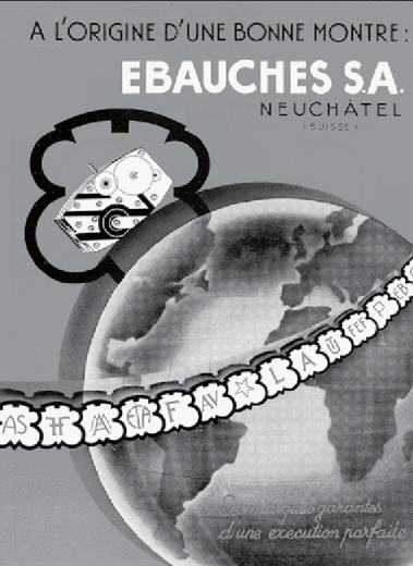 Die besten Rohwerkehersteller wie an einer Perlenkette unter dem Dach der Ebauches SA vereint