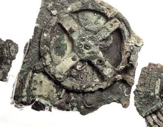 Antikythera Fragmente der antiken Uhr - einem Vorläufer modernen Räderuhren