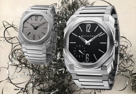 Ultraflacher Armbanduhren-Luxus in Edelstahl